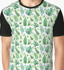 Vintage Tropical green leaves selection  Graphic T-Shirt