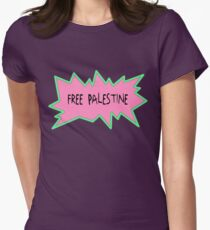Free Palestine Rugrats Style Womens Fitted T-Shirt