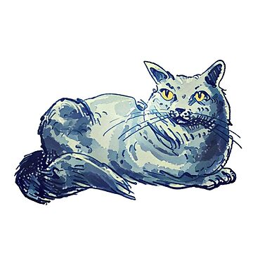 sweet british shorthair kitty cartoon style cat illustration by anticute