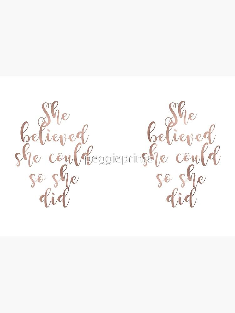 El oro rosa creía que ella podría, así lo hizo de peggieprints
