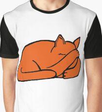 Ginger Sleepy Puss Graphic T-Shirt