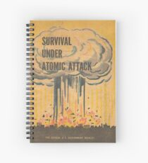 Survival, Atomic, Atomic Bomb, Attack, Poster, 1950 Spiral Notebook