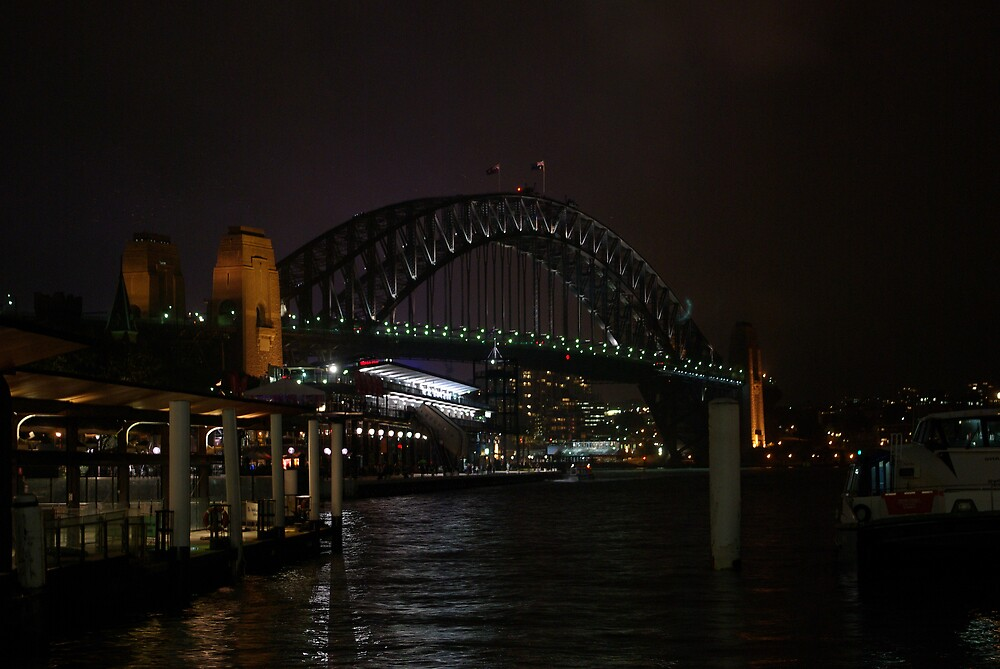 Sydney Harbour Bridge at night by Ande Reid