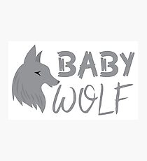 BABY wolf (with a matching Papa Wolf and Mama Wolf) Photographic Print
