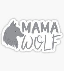 MAMA wolf (with a matching Baby Wolf and Papa Wolf) Sticker