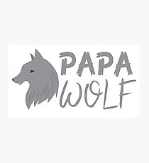 PAPA wolf (with a matching Baby Wolf and Mama Wolf) Photographic Print