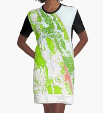 USGS TOPO Map Florida FL New Smyrna Beach 347656 1956 24000 T-Shirt Kleid