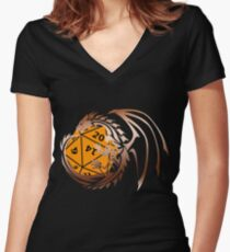Dungeons and Dragons - Copper and Orange! Women's Fitted V-Neck T-Shirt