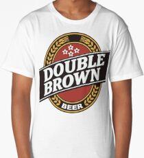 double brown Long T-Shirt