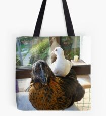 Who Said Dove's Can't Ride Side Saddle? - Dove & Chick - NZ Tote Bag