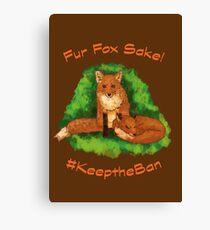 Fur Fox Sake! Canvas Print