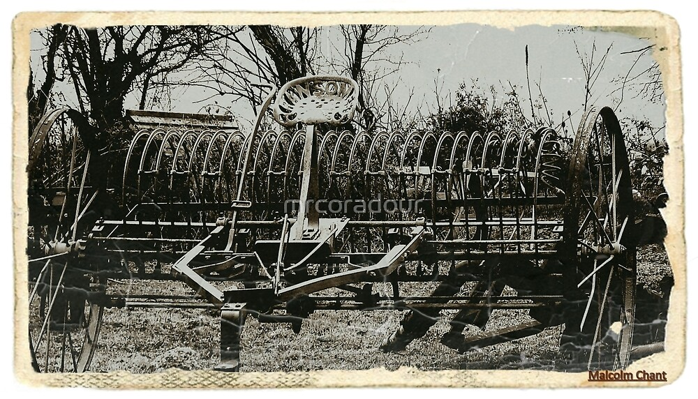 An Old Hay Rake by Malcolm Chant