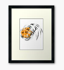 Dungeons and Dragons - Silver and Orange! Framed Print