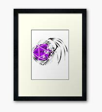 Dungeons and Dragons - Silver and Purple! Framed Print