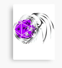 Dungeons and Dragons - Silver and Purple! Canvas Print