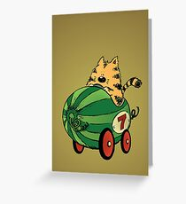 Albert and his watermelon ride Greeting Card