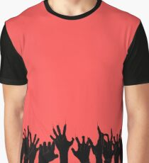 Zombie Grab RED Graphic T-Shirt