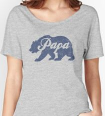 Vintage Papa Bear Father's Day Gift Women's Relaxed Fit T-Shirt