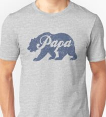 Vintage Papa Bear Father's Day Gift Unisex T-Shirt