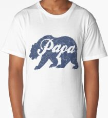 Vintage Papa Bear Father's Day Gift Long T-Shirt