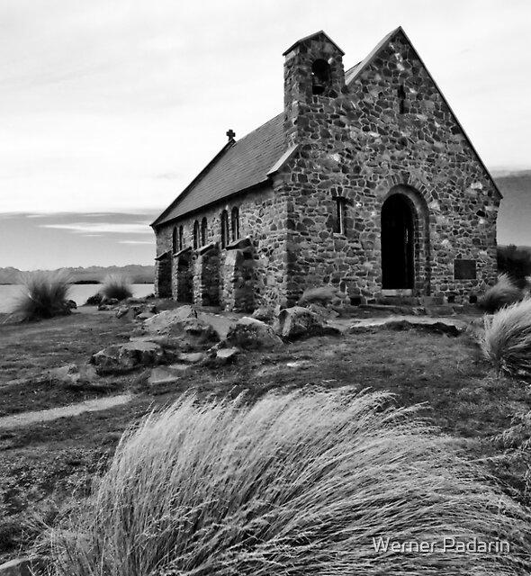 Church of the Good Shepherd (bw) by Werner Padarin
