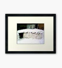 IGLOO SNOW HOUSE  Framed Print