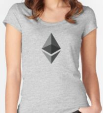 Ethereum Gray Diamond | Spread the Ether - ETH love Women's Fitted Scoop T-Shirt