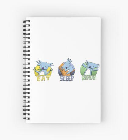 Cute Koala - Eat Sleep Repeat Spiral Notebook