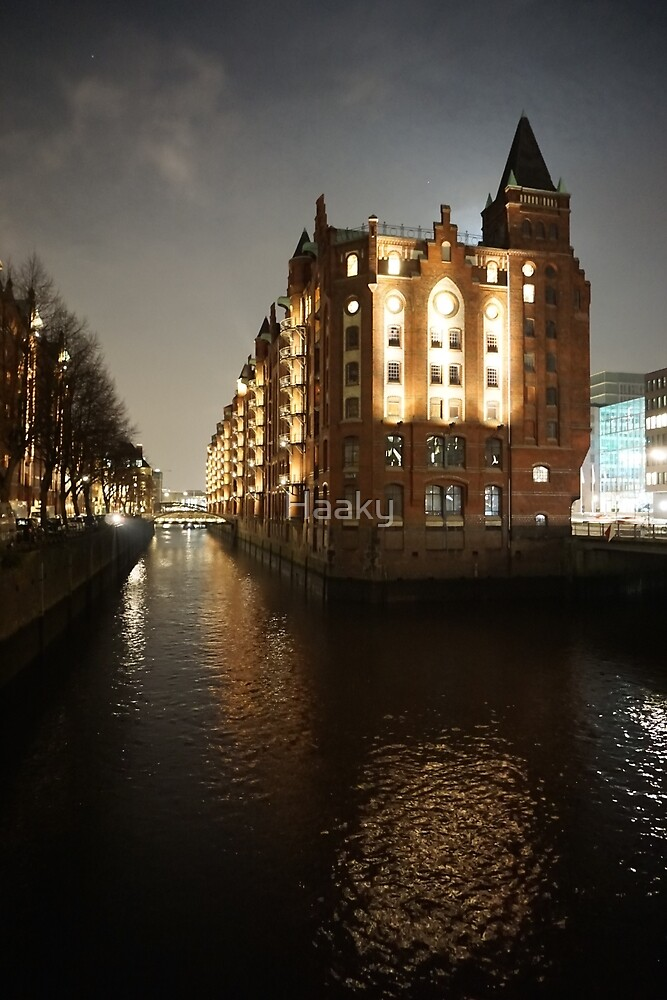 Hamburg Harbour City by night III by Haaky