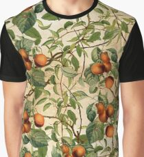 Vintage Fruit Pattern Graphic T-Shirt