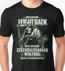 Czechoslovakian Wolfdog Don't mess with my Dog funny gift t-shirts Unisex T-Shirt