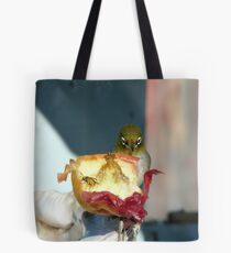 Aww..Wee!!! Your'e An Unwelcome Guest On My Apple! - Silver-Eye - NZ Tote Bag