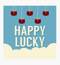Happy Lucky Gifts On Cloud Photographic Print