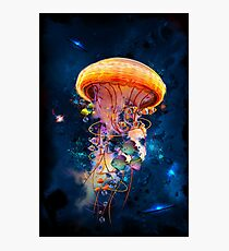 Electric Jellyfish World Photographic Print