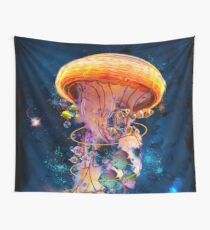 Electric Jellyfish World Wall Tapestry