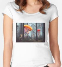 Forest of Jellyfish Worlds Fitted Scoop T-Shirt