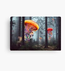 Forest of Jellyfish Worlds Canvas Print