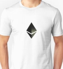 Ethereum Black Space Diamond Tee Shirt | Ether Blast Off 2017 Unisex T-Shirt