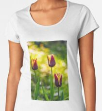 tulip with stripe on shady glade Premium Scoop T-Shirt