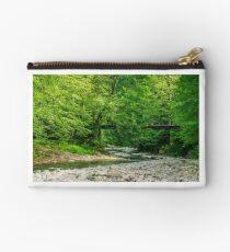 bridge over the forest river Studio Pouch