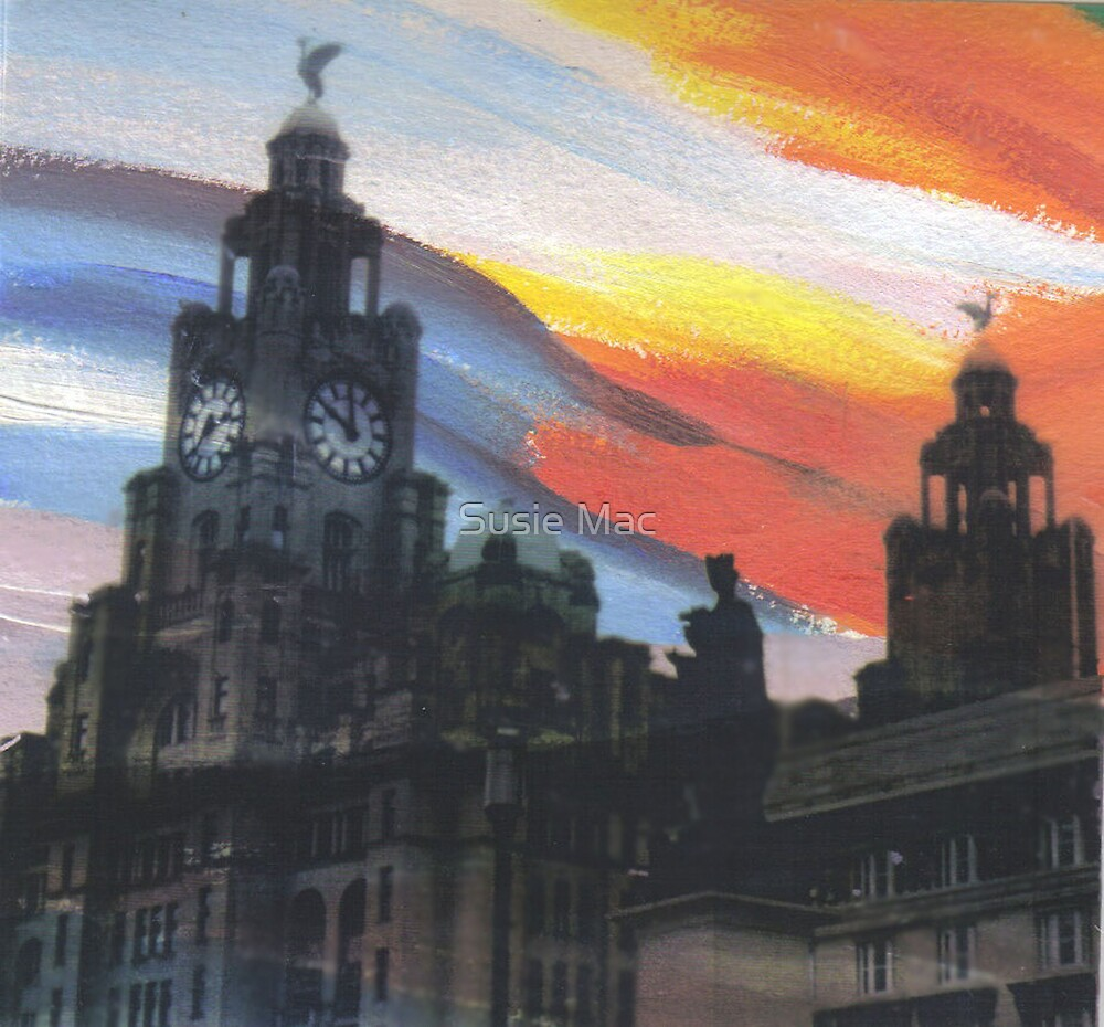 Liverpool Sunset by Susie Mac