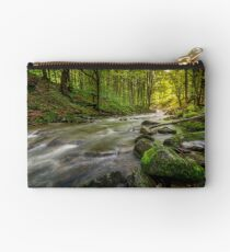 Rapid stream in green forest Studio Pouch