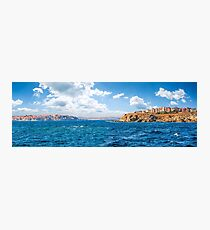 town on a cliff above the seashore Photographic Print