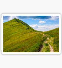 path through a meadow to mountain peak Sticker