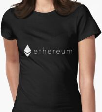 Ethereum White Diamond logo | Spread the ETH love Womens Fitted T-Shirt