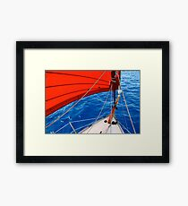 Caraway sails Framed Print