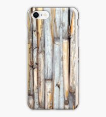 fence of bamboo trunks iPhone Case/Skin