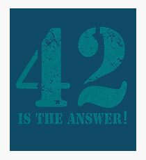 42 is the answer to everything (Rusted version) Photographic Print