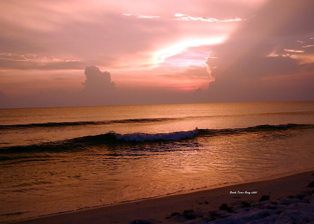 Cape San Blas Sunset by Brenda Haney
