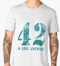 42 is the answer to everything (Rusted version) Men's Premium T-Shirt